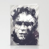 steve mcqueen Stationery Cards featuring Steve McQueen - The Legend by HelloFedUp
