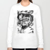 fear and loathing Long Sleeve T-shirts featuring Fear and Loathing by Tufty Cookie