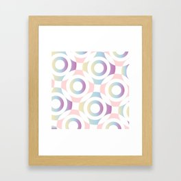 Circle composition in soft pastel colors Framed Art Print