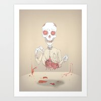 zombie Art Prints featuring zombie by siddwills