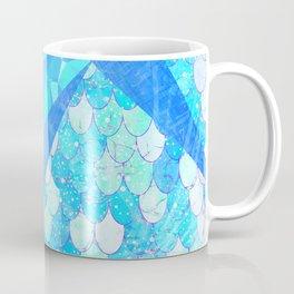 Sunny Candy Geometric Summer Mermaid Scales Coffee Mug