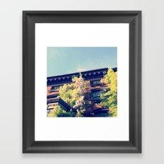 Sunny Brownstone Framed Art Print