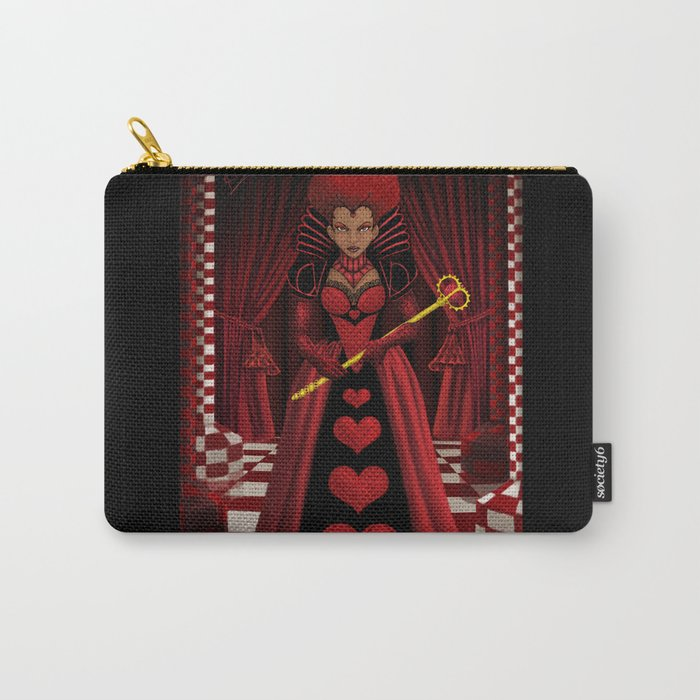 Ebony Queen of Hearts  Carry-All Pouch