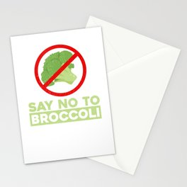 Say No To Broccoli Vegetables Meat Lover Stationery Cards