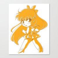 sailor venus Canvas Prints featuring Sailor Venus by TheLoreFactory