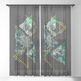 Gloomy Succulents #society6 #decor #buyart Sheer Curtain
