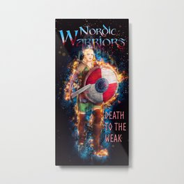 The Shield Maiden Color from Nordic Warriors Metal Print