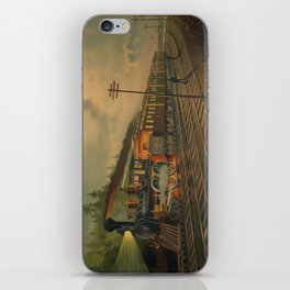 Night Scene on the NY Central Railroad (Currier & Ives) iPhone Skin