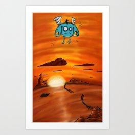 Flying Adventure Pals Art Print