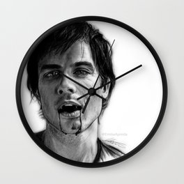 Damon Salvatore Drawing Wall Clock
