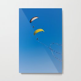 Paragliding Metal Print