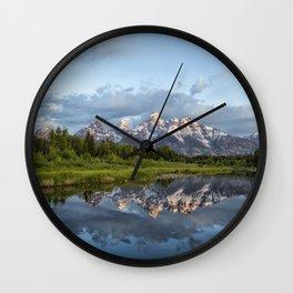 Light Touching the Grand Tetons Wall Clock