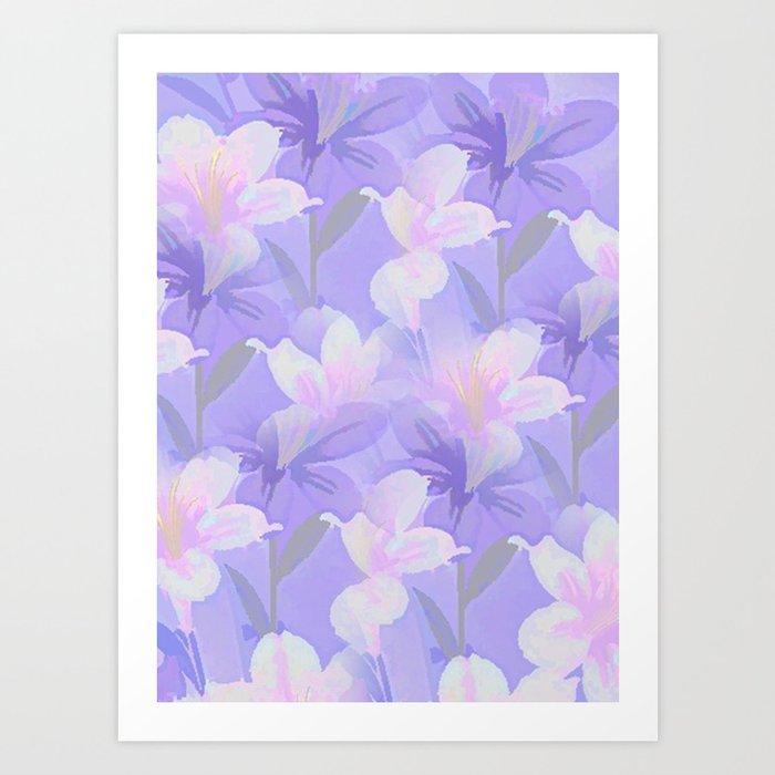 Abundance Of Flowers - Painterly Art Print