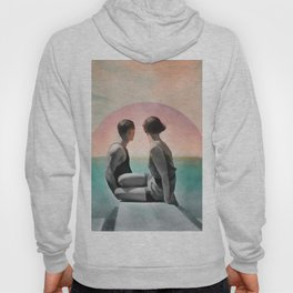 Collage Couple in Sunset Hoody
