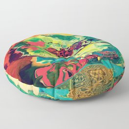 Sunrise gorilla with beanie Floor Pillow