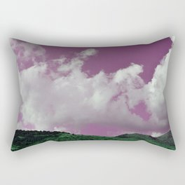emerald hills purple skies Rectangular Pillow