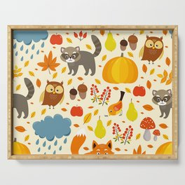 Woodland Animals Serving Tray