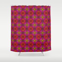 Tryptile 16 (repeating 2) Shower Curtain