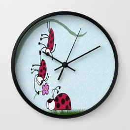 Ladybug Professing His Love Wall Clock