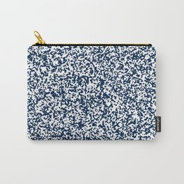 Tiny Spots - White and Oxford Blue Carry-All Pouch