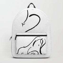 Brushstroke Nude Goddess 21 by Kathy Morton Stanion Backpack