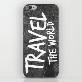 Travel The World Map Design iPhone Skin