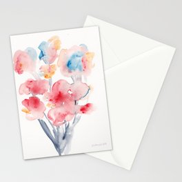 22  | Loose Watercolor Flower | 191015 Stationery Cards