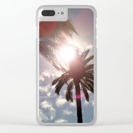 Sun In Your Palms Clear iPhone Case