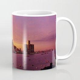 Detroit Skyline Sunset Coffee Mug