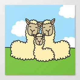 Lovely Llama's Canvas Print