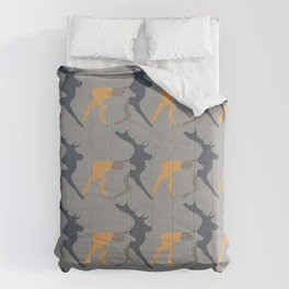 Magic cute Minimal deer and stag illustration Comforters