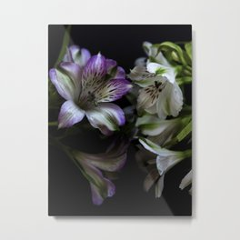 Floral bouquet. Purple and white flowers. Metal Print