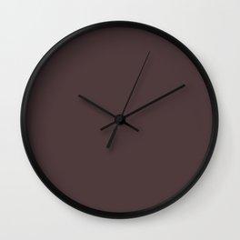 Dark Puce - solid color Wall Clock