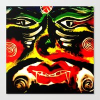 inner demons Canvas Prints featuring Demons by Akinawa