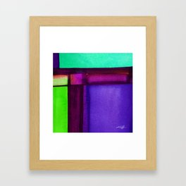 Color Block 4 by Kathy Morton Stanion Framed Art Print