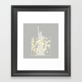 Give Me Liberty or Give Me Daisies Framed Art Print