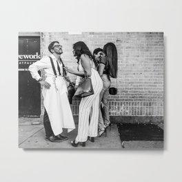 Elegant Conversations Metal Print