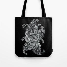 Black and white paisley Tote Bag