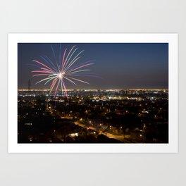 Fireworks. Art Print