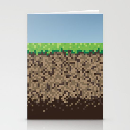 Minecraft Block Stationery Cards
