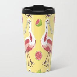Brazilian Birds & Fruits - Roseate Spoonbill + guavas Travel Mug