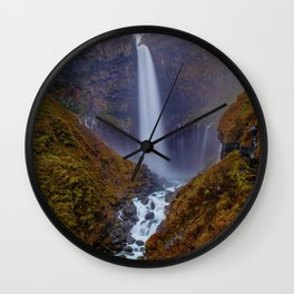 The Waterfalls River (Color) Wall Clock