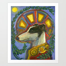 St. Guinefort the Greyhound Art Print