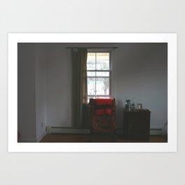 Sitting by the Window Art Print