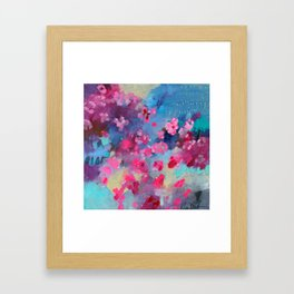 Cherry Blossom Weather Framed Art Print