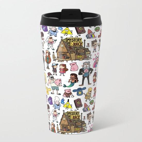 Cute Gravity Falls Doodle  Metal Travel Mug