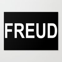 freud Canvas Prints featuring Freud  by themateriamaster