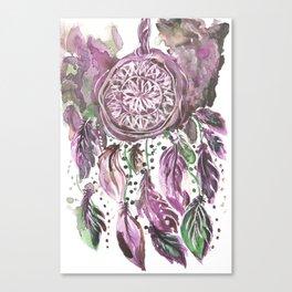 Pink Dream catcher Canvas Print