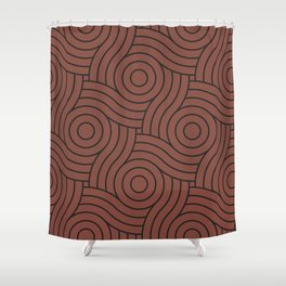 Circle Swirl Pattern Solid Color Dunn Edwards Color of the Year Spice of Life DET439 Shower Curtain