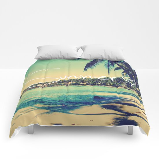 Summer Love Vintage Beach Comforters